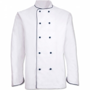 CHEF'S JACKET WITH PIPING
